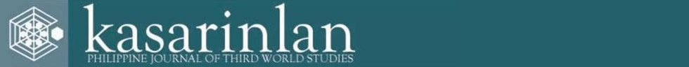 Kasarinlan: Philippine Journal of Third World Studies